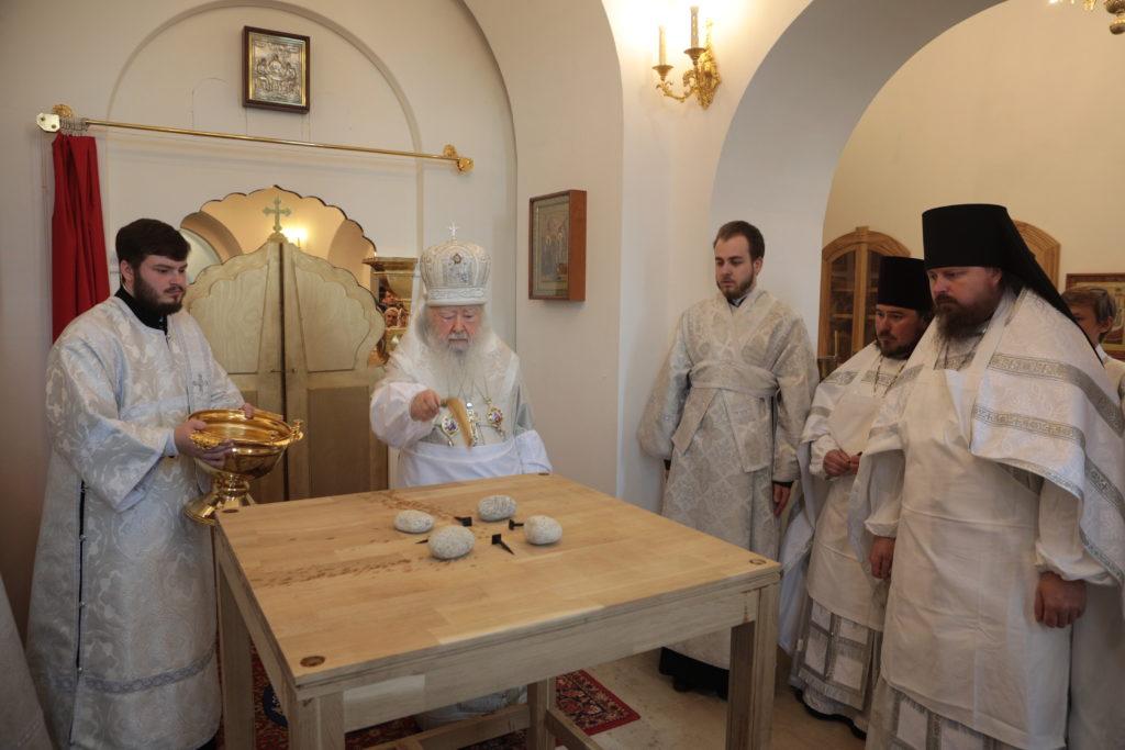 Великое освящение храма митрополит Ювеналий
